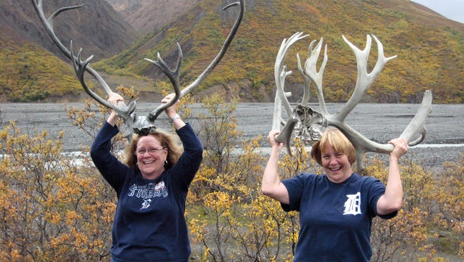 Sisters Helen McRoberts of Warren and Hope Snay of Sterling Heights at Denali National Park and Preserve in Glacier Bay, Alaska.