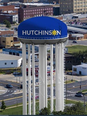 The 1-million gallon Hutchinson water tower located at Avenue A and Adams Street will receive a $347,300 renovation.