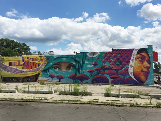 A mural by Dasic Fernandez in Hamtramck on August 5, 2015.