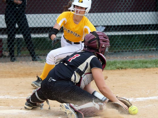 Watchung Hills at Hillsborough softball in the Somerset County Tournament semifinals held at Hillborough High School on Wednesday May 18, 2016.