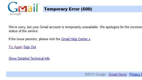 Google's Gmail service went down briefly on Jan. 24