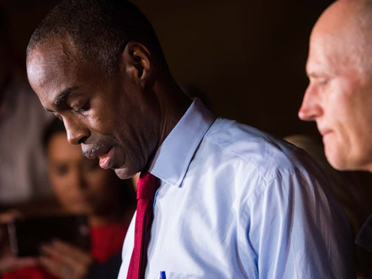 Broward County School Superintendent Robert Runcie speaks at a news conference.