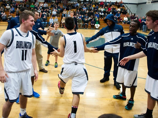 Rice vs. Burlington Boys Basketball 12/09/14