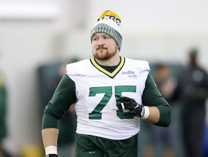 Green Bay Packers offensive tackle Bryan Bulaga practices