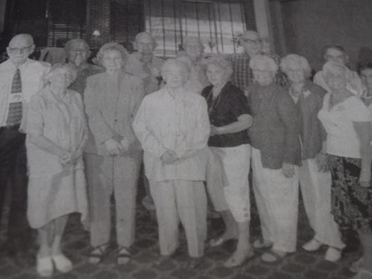 The Sturgis class of 1944 reunited in August 2007.
