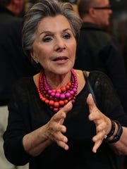 "Sen. Barbara Boxer talks about the her daughter Nicole Boxer's film, ""How I Got Over,"" before it was screened on  Jan. 5, 2014, at the Palm Springs International Film Festival. Crystal Chatham/The Desert Sun"