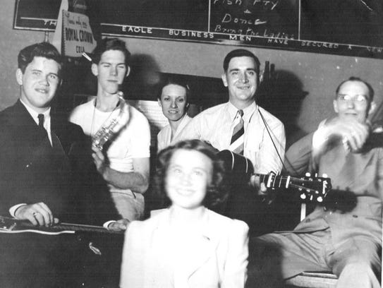 Gerald Cox (left) was born in Viroqua, Wis., and played