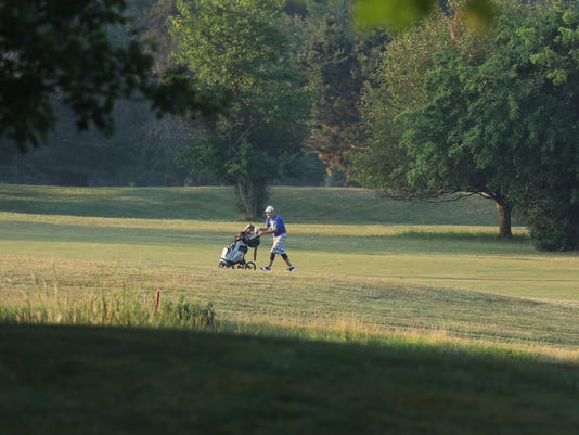 Golfing early morning