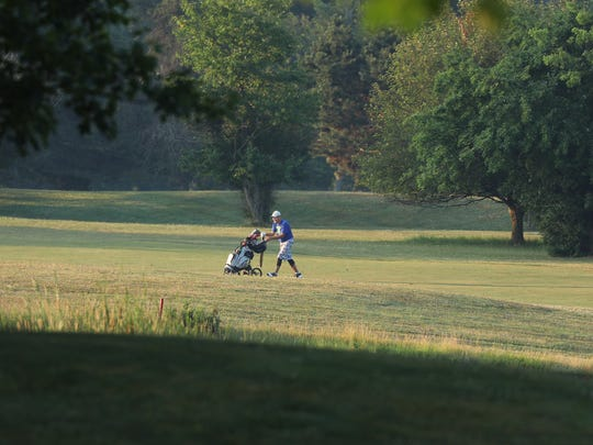File photo of a golfer at Genesee Valley's golf course.