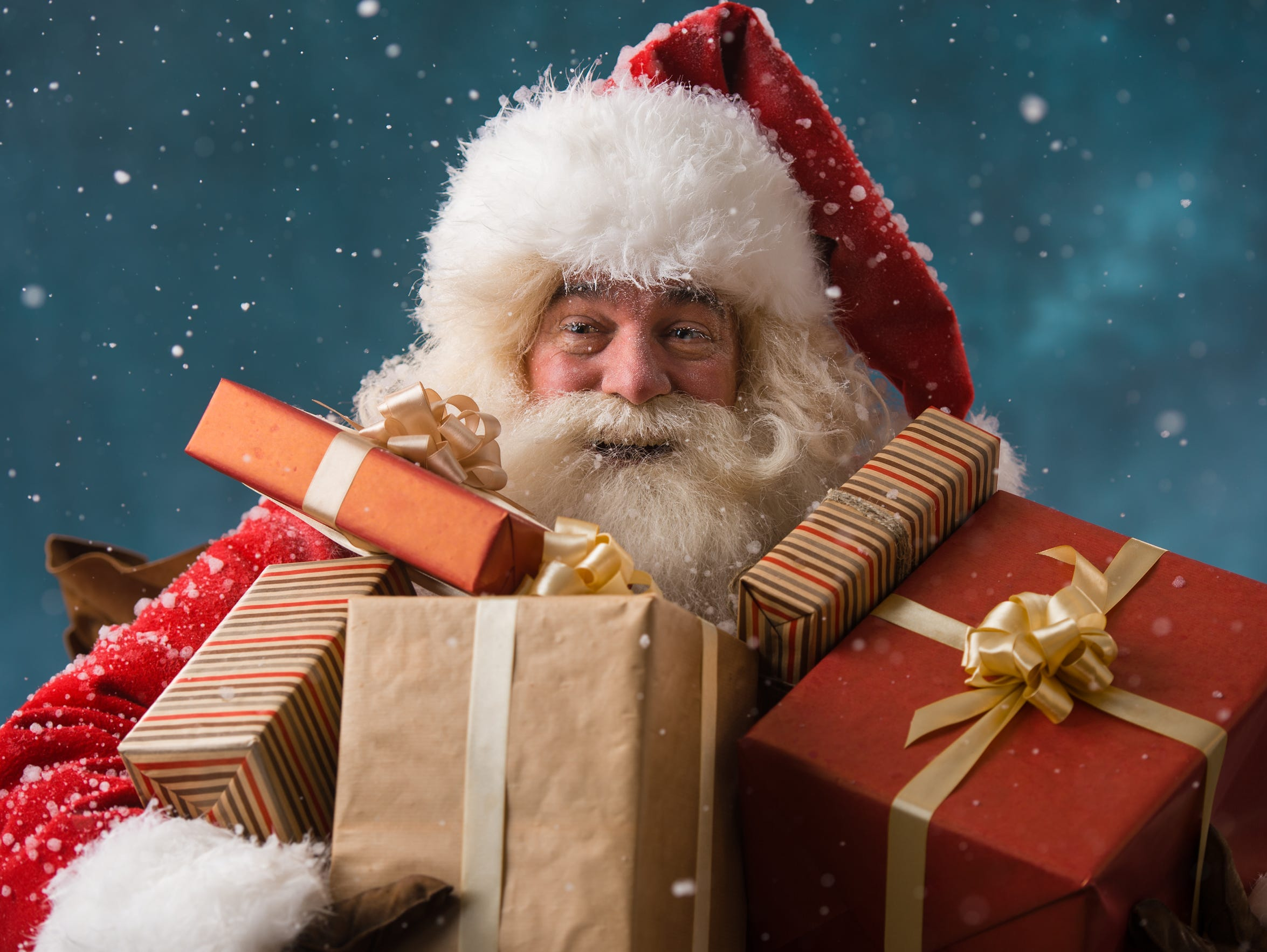 Shop with Santa at the Hollyday Marketplace on Saturday.
