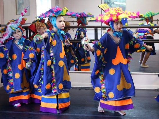 Members of Ballet Folklorico Viva Mexico rehearse for the group's upcoming 19th season show on Saturday, June 17, 2017, at the Munro Ballet Studio.