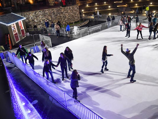 Holiday Ice rink in Anderson