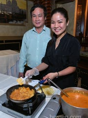 Miguel Fung and Monica Fung from MK Valencia Restaurant (Photo by Chris Marksbury)