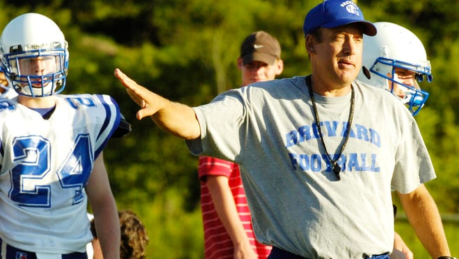 Mark Barnes coached Shelby Crest to a 3-A state football tile in 2014.