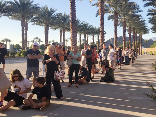 Residents of Coachella Valley line up in order to buy