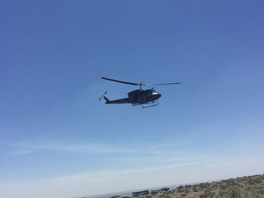 A Black Hawk helicopter, on loan from U.S.Customs and