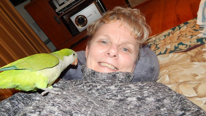 Baby Bird would perch on Cindy Tome's chest and purr like a cat. The bird, seized by the state Game Commission, is now at a wildlife sanctuary in Snyder County.