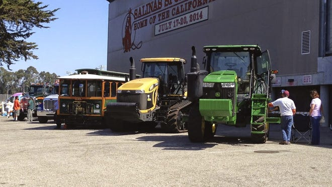 The foreground of the Salinas Sports Complex hosted Touch-A-Truck event.
