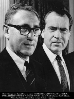 Henry Kissinger and Richard Nixon.