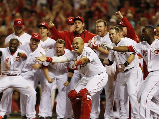 Joey Votto gave the Reds a walkoff win on May 9.