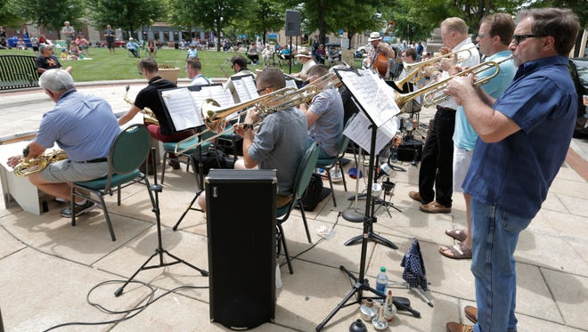 Water City Jazz Orchestra entertained Live at Lunch Concert series attendees June 22, 2016. Orchestra co-founder Kurt Shipe helped organize the new Oshkosh Jazz Festival, which Water City Jazz Orchestra will perform at on Saturday, Aug. 28.
