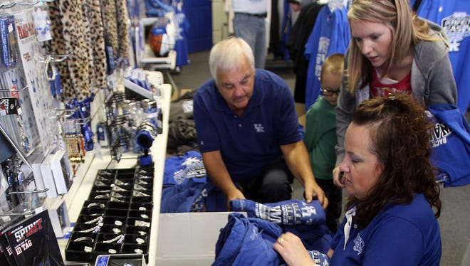 Shopping for a UK shirt in 2012.