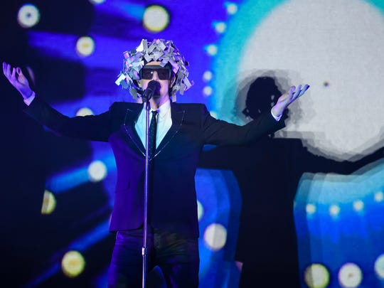 Neil Tennant of the Pet Shop Boys performs in Berlin, Germany on July 1, 2017.