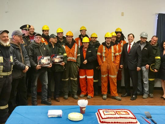 Power crews from Quebec and New Brunswick, Canada,