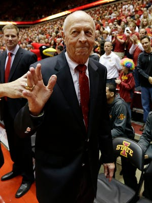 Former Iowa State and Michigan basketball coach Johnny Orr.