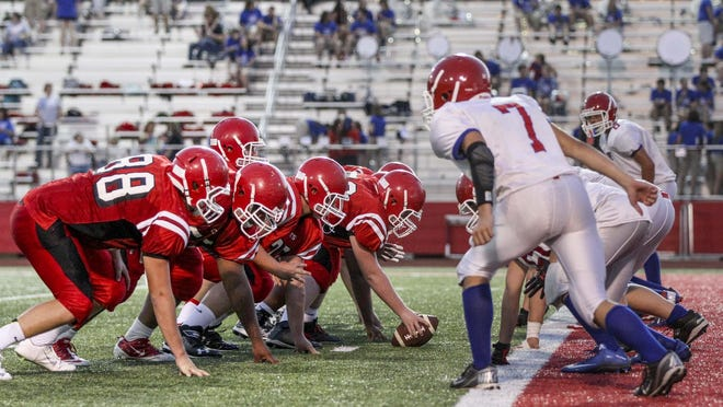 "The Ruston Bearcats battle the West Ouachita Chiefs in Friday night's jamboree at L.J. ""Hoss"" Garrett Stadium in Ruston."
