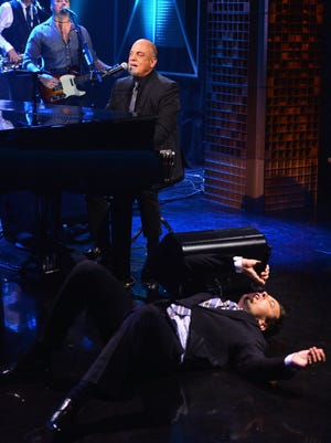 Jimmy Fallon exhausts himself during his duet with Billy Joel on March 20.