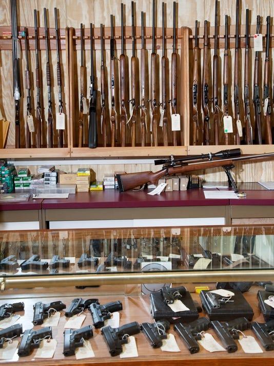 Rifle in Gun Shop