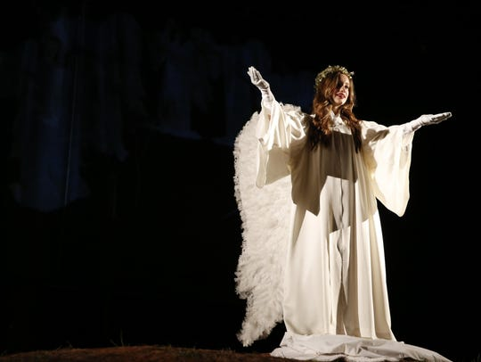 Ashley Craig portrayed the angel on the hill during the Living Christmas story at Killearn United Methodist Church last year.