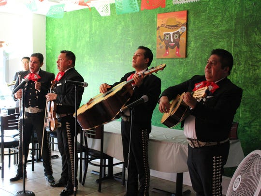 Mariachi Nuevo Mexico of New Jersey performs inside of T-Bone Taco on Aug. 18 in honor of its ribbon cutting.