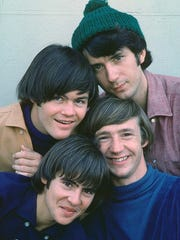 The Monkees, circa 1966.  Clockwise from top left: