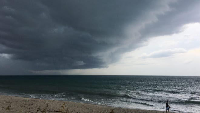 Heavy rains and thunderstorms were expected Wednesday for Brevard