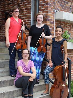 Pictured left to right: Miriam Barfield, Caroline Holden, Valerie Arsenault, and Zlatina Staykova.