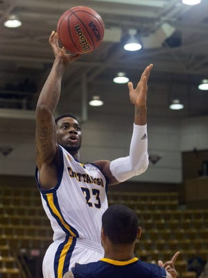Tre' McLean (23) scored 13 points for Chattanooga.