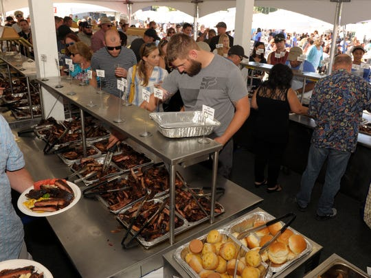 The Rib Village, a separately ticketed area at the Best in the West Nugget Rib Cook-off in Sparks, features seating, all-you-can-enjoy ribs and sides, and beverages.