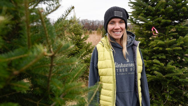 Cheryl Thiele owner of Hinkemeyer Tree Farm shown Thursday, Nov. 16, near Rice.