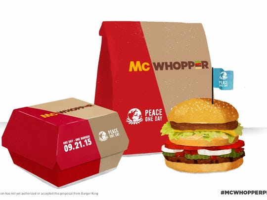 Burger King has proposed to McDonald's that the two