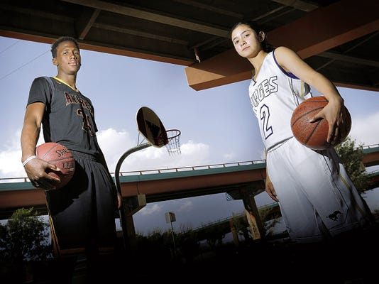MARK LAMBIE—EL PASO TIMES  The El Paso Times' All-City MVPs are Rashad Still of Andress and Becca Cardenas of Burges.
