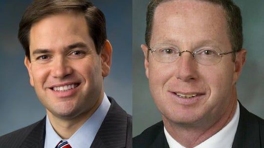 State Rep. Stan Saylor, right, endorses U.S. Sen. Marco