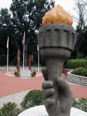 The Union County September 11th Memorial in Echo Lake Park, Mountainside.