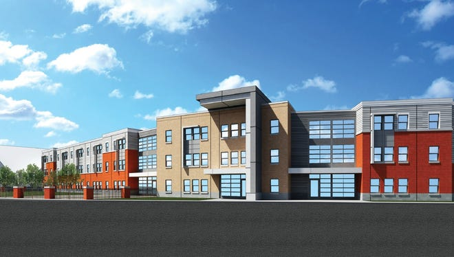 A rendering of the Alexander Street Apartments project.