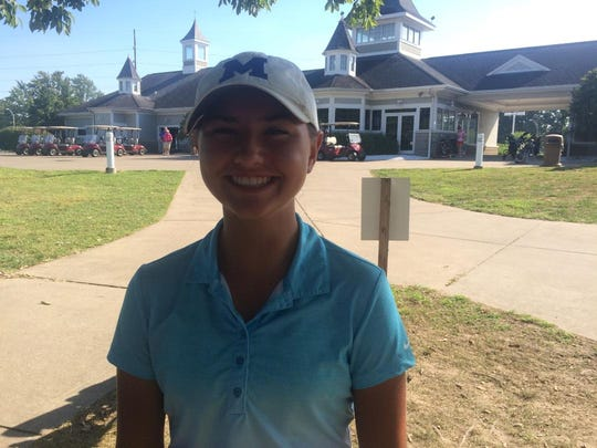 Memorial freshman golfer Mallory Russell