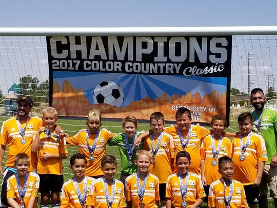 The FC Mesquite Barcelona (U11) won a silver medal