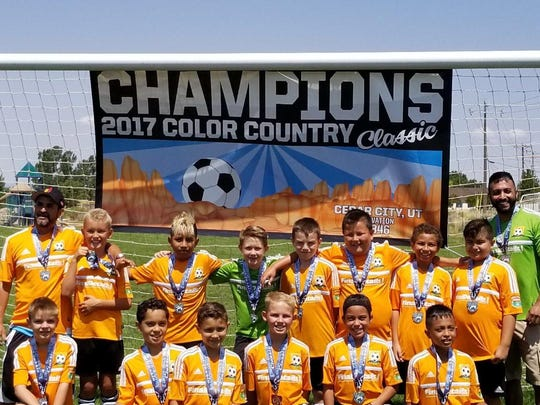 The FC Mesquite Barcelona (U11) won a silver medal at the Color Country Classic on Aug. 3-5 in Cedar City, Utah.
