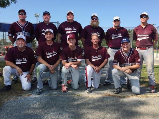 Indiana's 55-older fastpitch softball team. Back row