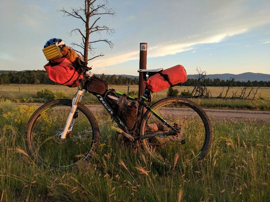 Camped on the Continental Divide Trail - Great Divide Mountain Bike Route.